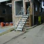 galvanized stairs